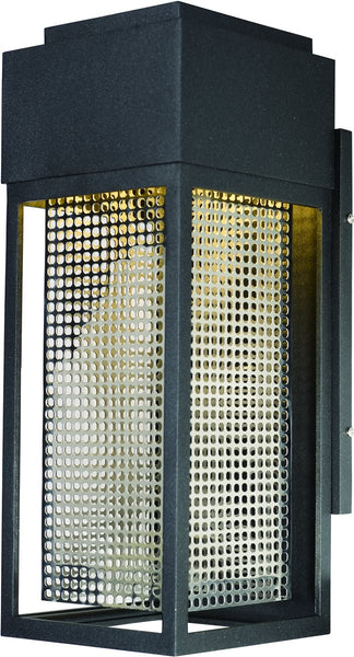 Maxim Townhouse LED 1-Light Outdoor Wall Lantern Galaxy Black / Stainless Steel 53599GBKSST