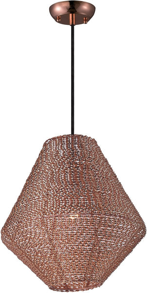 Maxim Twisp 1-Light Pendant Copper 12197CP