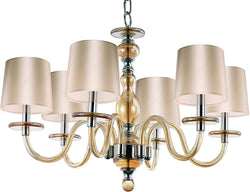 Maxim Venezia 6-Light Chandelier Polished Nickel 27546CGPN