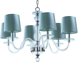 Maxim Venezia 6-Light Chandelier Polished Nickel 27546CLPN