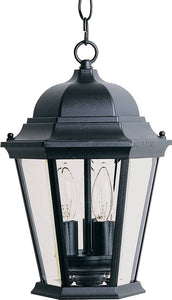 Maxim Westlake 3-Light Outdoor Hanging Lantern Black 1009BK