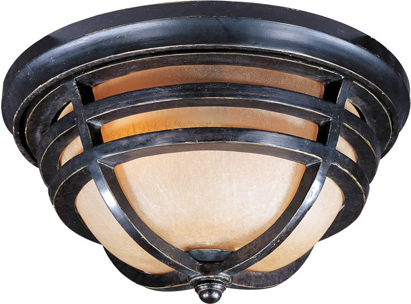 "13""w Westport Vivex 2-Light Outdoor Ceiling Mount Artesian Bronze"