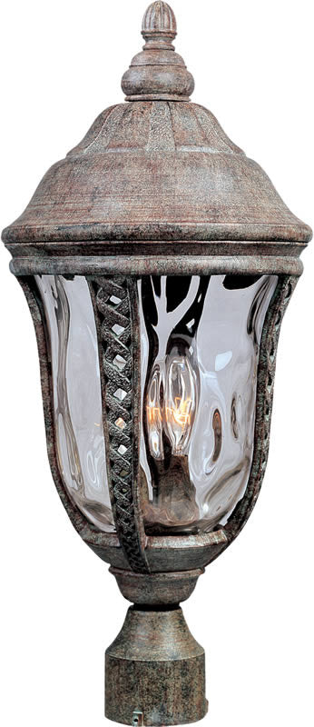 "21""H Whittier Die-Cast Aluminum 3-Light Outdoor Pole/Post Mount Earth Tone"
