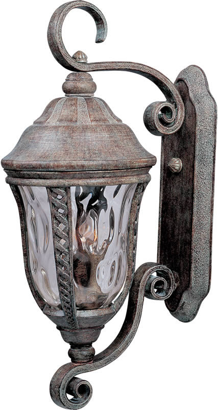 "26""H Whittier Die-Cast Aluminum 3-Light Outdoor Wall Mount Earth Tone"