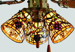 Meyda Tiffany Jeweled Grape Fan Light Shade 67013