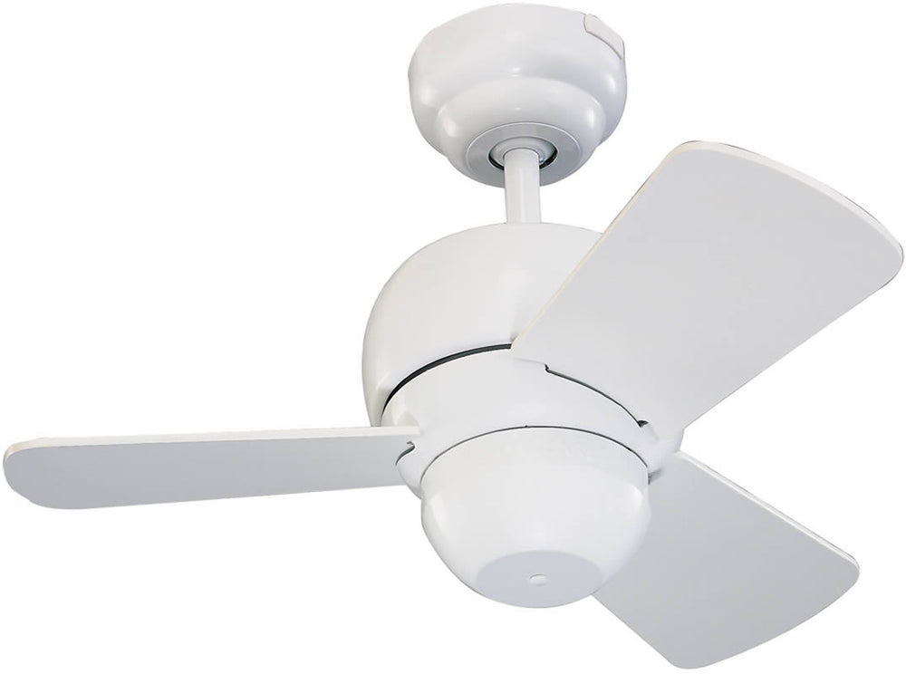 "24""W Micro White Ceiling Fan"