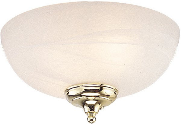 "11""W Ceiling Fan Light Kit White Faux Alabaster"