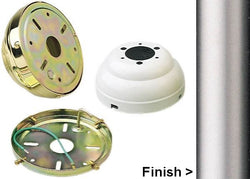 Monte Carlo Fans Flush Mount Canopy Kit Brushed Pewter MC90BP