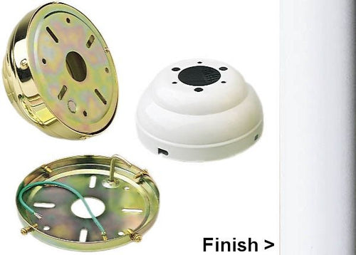 Monte Carlo Fans Flush Mount Canopy Kit White MC90WH