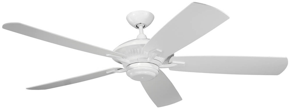 "60""W Cyclone 5-Blade Outdoor Ceiling Fan White"