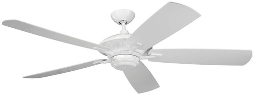Monte Carlo Fans Cyclone 60 5-Blade Outdoor Ceiling Fan White 5CY60WH