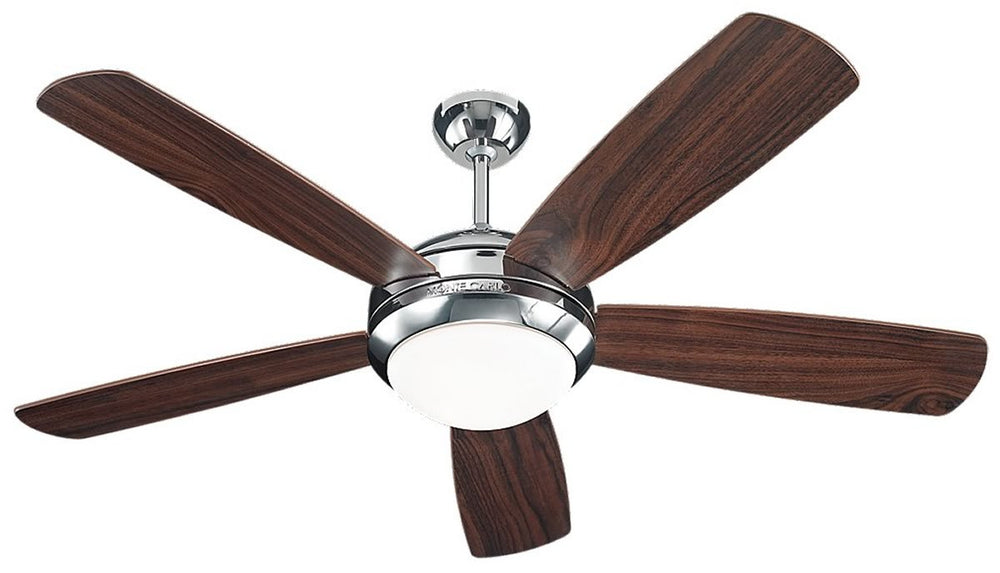 "52""W Discus 1-Light Ceiling Fan Polished Nickel"