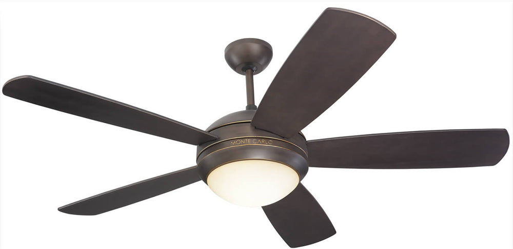 "Discus 52"" 5-Blade Ceiling Fan with Light Kit Roman Bronze"