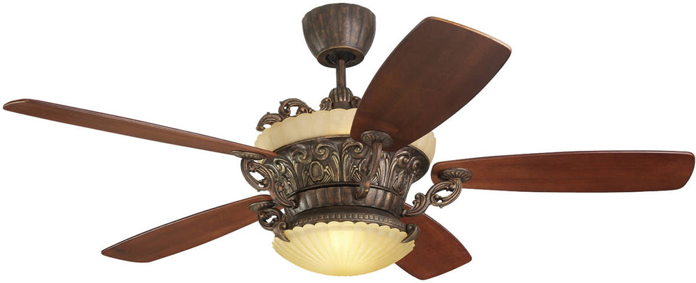 "56""W Strasburg 5-Blade Ceiling Fan with Remote/Uplight Tuscan Bronze"