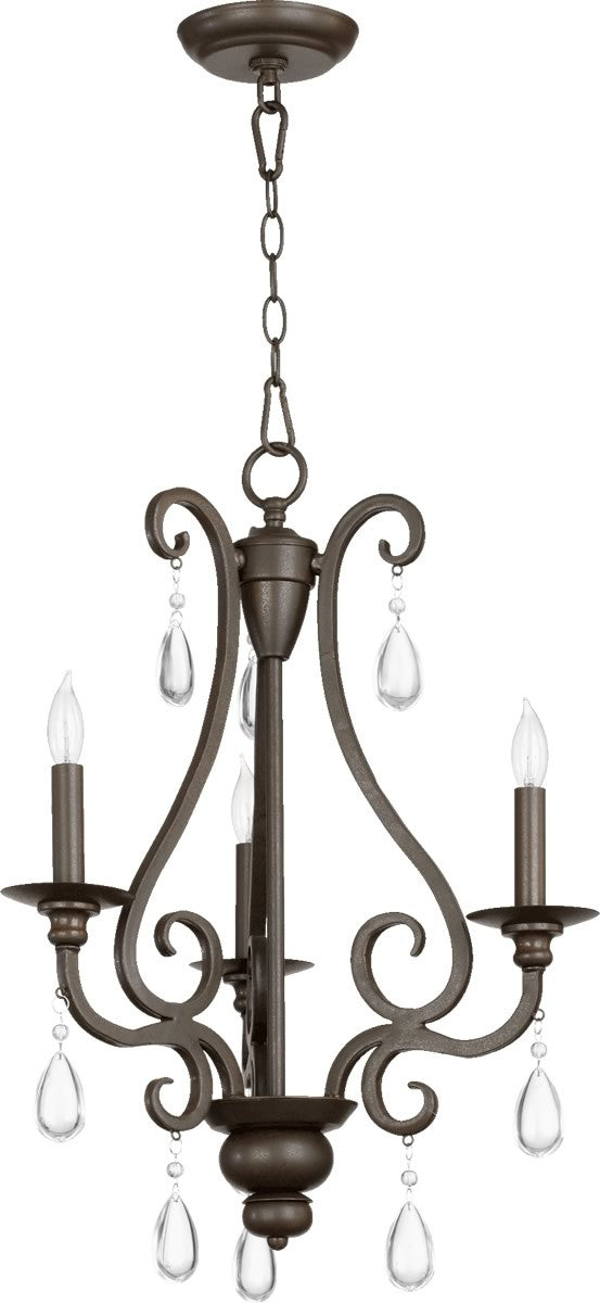 "19""W Anders 3-Light Chandelier Oiled Bronze"