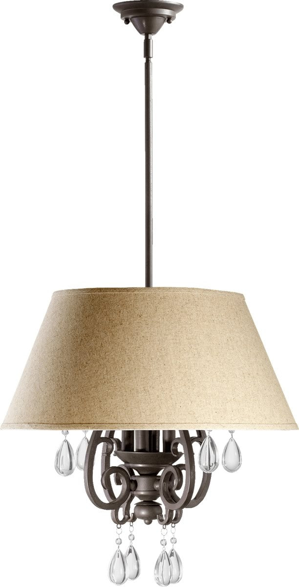 "20""W Anders 4-Light Pendant Oiled Bronze"