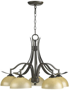"26""w Atwood 5-Light Chandelier Oiled Bronze"