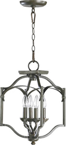 Quorum Atwood 4-Light Pendant Oiled Bronze 6796486