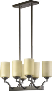 Quorum Atwood 6-Light Pendant Oiled Bronze 6596686