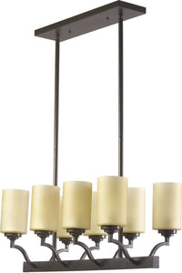 Quorum Atwood 8-Light Pendant Oiled Bronze 6596886