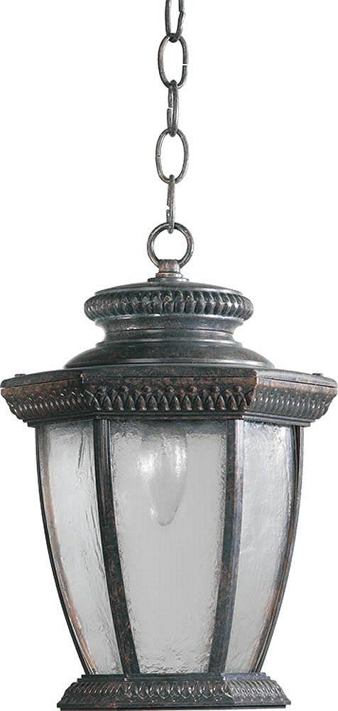 "10""W Baltic 1-Light Outdoor Pendant Baltic Granite"