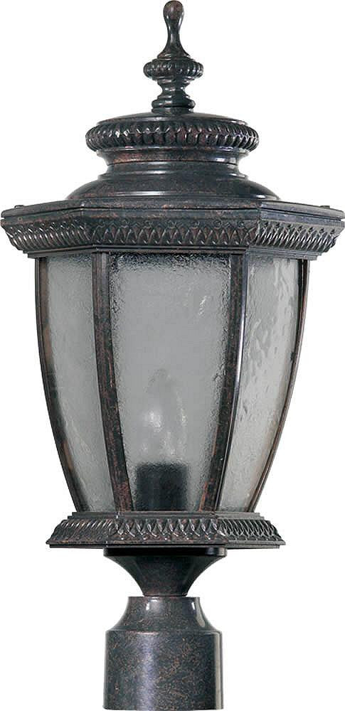 "20""H Baltic 1-Light Outdoor Post Lantern Baltic Granite"
