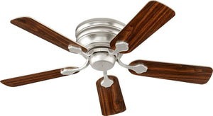 "44""W Barclay Hugger  Ceiling Fan Satin Nickel"