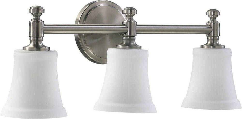 "22""W 3-Light Bathroom Vanity Strip Satin Nickel"