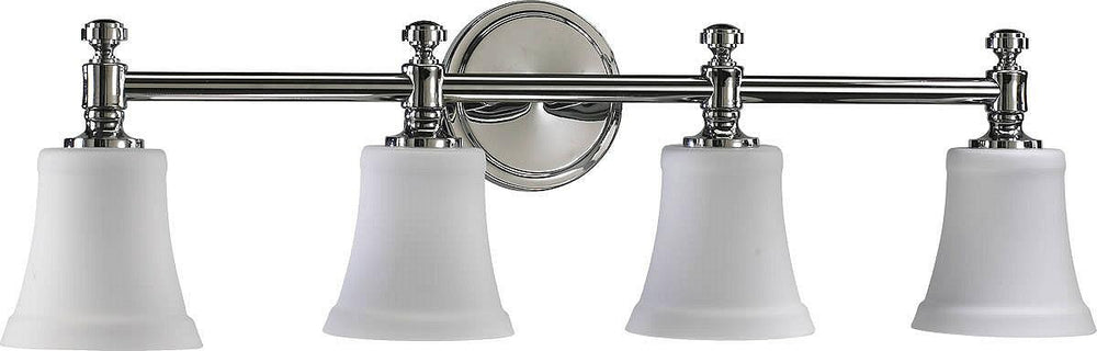 "30""W 4-Light Bathroom Vanity Strip Chrome"