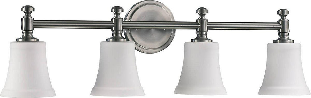 "30""W 4-Light Bathroom Vanity Strip Satin Nickel"