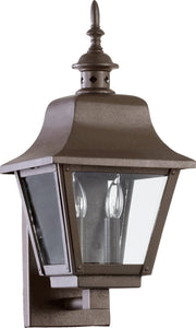 Quorum Bishop 2-Light Outdoor Wall Lantern Oiled Bronze 7030286