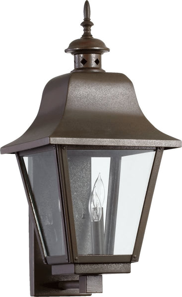 Quorum Bishop 3-Light Outdoor Wall Lantern Oiled Bronze 7030386