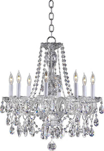"23""w Bohemian Katerina 8-Light Chandelier Chrome"