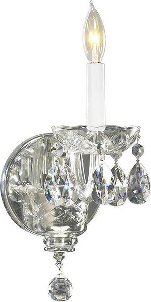 Quorum Bohemian Katerina 1-Light Wall Bracket Chrome 6311514