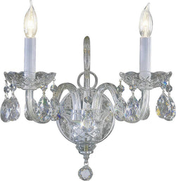 Quorum Bohemian Katerina 2-Light Wall Bracket Chrome 6312514
