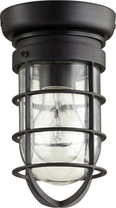 Quorum Bowery 1-light Ceiling Flush Mount Noir