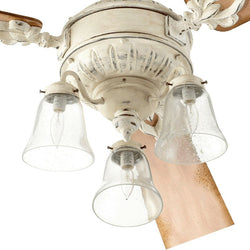 "13""w Brewster 3-Light Ceiling Fan Light Kit Persian White"