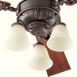 Quorum Brewster 3-Light Ceiling Fan Light Kit Oiled Bronze 2360086