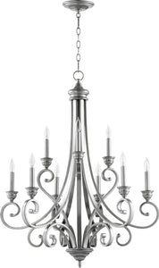 Quorum Bryant 9-light Chandelier Classic Nickel