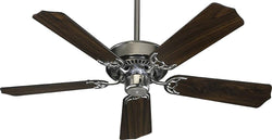 Quorum Capri 42 5-Blade Ceiling Fan Satin Nickel 7742565