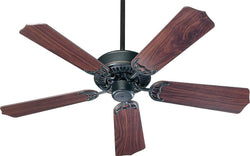 Quorum Capri 42 5-Blade Ceiling Fan Old World 7742595