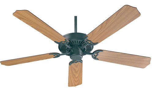 Quorum Capri 52 5-Blade Ceiling Fan Matte Black 7752559