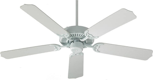Quorum Capri 52 5-Blade Ceiling Fan White 775256