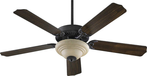 Quorum Capri III 2-Light 52 5-Blade Ceiling Fan Toasted Sienna 775259444
