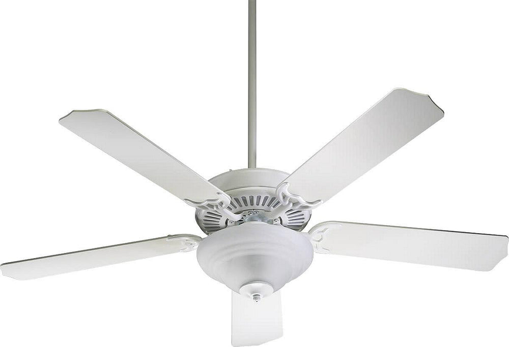 "52""W Capri III 2-Light 5-Blade Ceiling Fan Studio White"