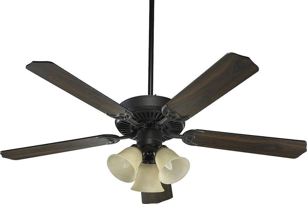 "52""W Capri VI 3-Light 5-Blade Ceiling Fan Old World"
