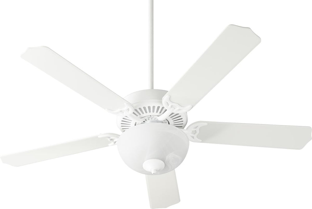 "52""W Capri VIII 2-light Energy Star LED Ceiling Fan Studio White w/ Satin Opal"