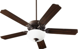 Quorum Capri VIII 2-light Energy Star LED Ceiling Fan Oiled Bronze w/ Satin Opal