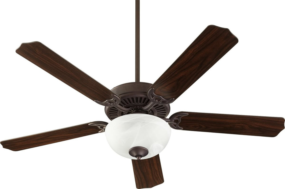 "52""W Capri VIII 2-light Energy Star LED Ceiling Fan Toasted Sienna w/ Faux Alabaster"