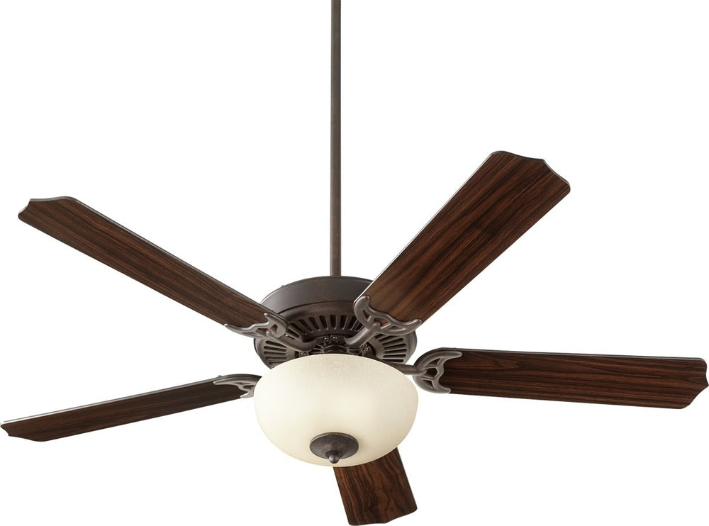 "52""W Capri VIII 2-light Energy Star LED Ceiling Fan Toasted Sienna w/ Amber Scavo"